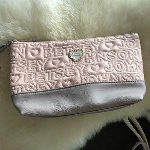 Betsey Johnson Pink Makeup Bag Medium Sized